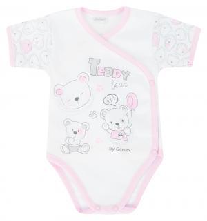 Боди  Teddy Bear, цвет: белый/розовый Gamex