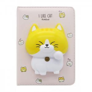 Блокнот со сквишем Котик I Like Cat А5 Mihi