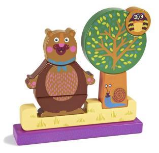Деревянная игрушка  Пазл вертикальный Лес Oops