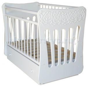 Детская кроватка  Розали маятник поперечный Островок уюта