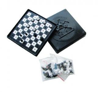 Игровой набор  Шашки + шахматы Пластмастер
