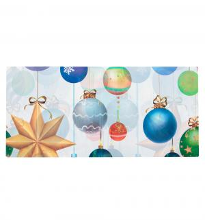 Скатерть полиэтиленовая  Елочные игрушки 140 х 180 см Патибум