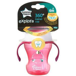 Чашка-непроливайка  Explora 360 Trainer от 6 мес, розовая Tommee Tippee. Цвет: разноцветный