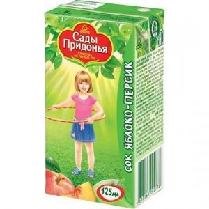 Сок  яблоко-персик, 125 мл Сады Придонья