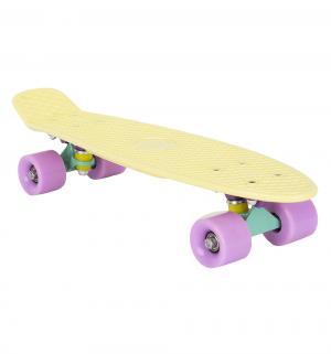 Скейтборд  S-2206P, цвет: желтый Leader Kids
