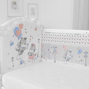 Бортик в кроватку  Сердечки (бампер) Baby Nice (ОТК)