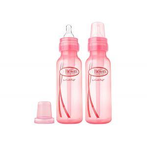 Набор бутылочек Dr.Browns Options полипропилен с 0 мес, 250 мл, цвет: розовый Dr.Brown's