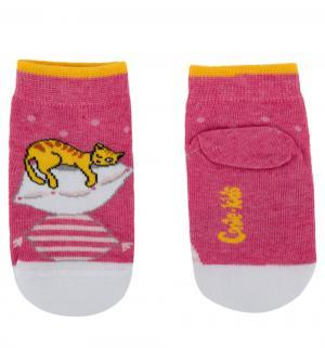 Носки  Кошка и собака, цвет: розовый Conte Kids