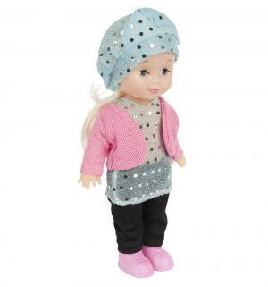 Кукла  в голубой шапочке 25 см S+S Toys