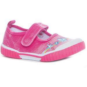 Туфли для девочки CROSBY, фуксия Crosby. Цвет: розовый