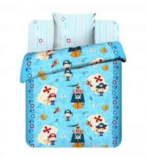 Комплект постельного белья  В поисках сокровищ, цвет: голубой Василек