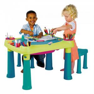 Стол Creative для детского творчества и игры с водой песком + 2 табуретки Keter