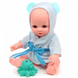 Кукла-Пупс в голубом халатике с аксессуарами и звуками 30 см Lisa Jane