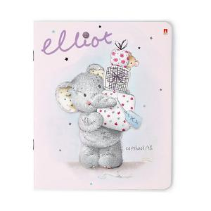 Тетрадь  Весёлый слонёнок 48 листов, 5 шт., клетка Альт. Цвет: разноцветный