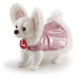 Мягкая игрушка  Чихуахуа в розовом платье, 12x20x23 см Trudi. Цвет: белый