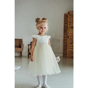 Нарядное платье Unona. Цвет: бежевый