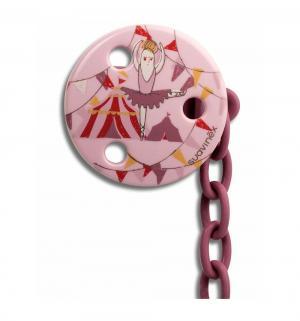 Держатель для пустышки  Балерина, с рождения, цвет: розовый Suavinex
