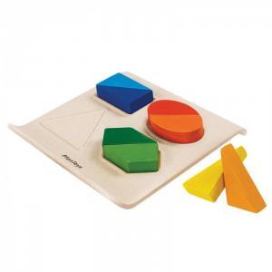 Деревянная игрушка  Геометрические фигуры рамка-вкладыш Plan Toys
