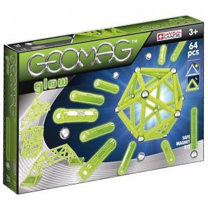 Магнитный конструктор  Glow 64 детали Geomag