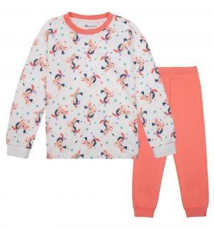 Пижама , цвет: белый/коралловый Kogankids