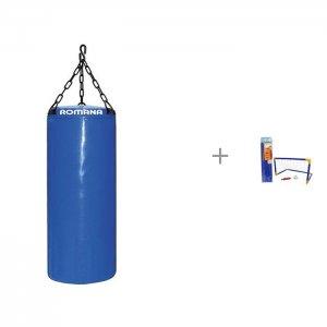 Мешок боксерский 5 кг и Футбольные ворота 1toy с мячом насосом Romana