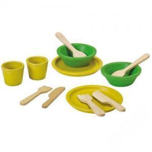 Деревянная игрушка  Набор деревянной посуды Plan Toys