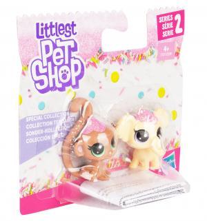 Игровой набор  Зефирные петы Коричневый и желтый 4 см Littlest Pet Shop