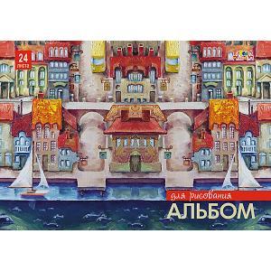 Альбом для рисования Апплика Набережная. Парусники, 24 листа
