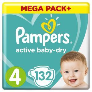 Подгузники  Active Baby-Dry 4 (9-14 кг) 132 шт. Pampers