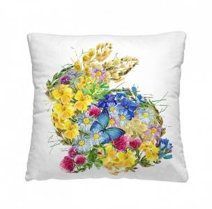 Подушка-думка Цветочный заяц 40х40 см Волшебная Ночь