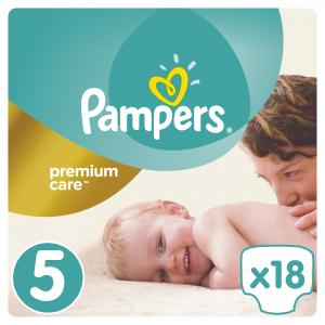 Подгузники  Premium Care 5 размер (11-18 кг) 18 шт. Pampers