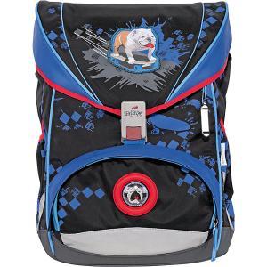 Ранец с наполнением  Ergoflex Пес на скейте DerDieDas. Цвет: разноцветный