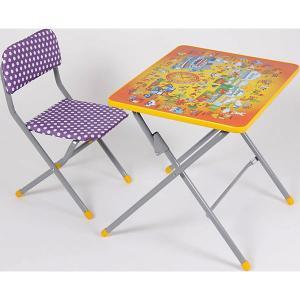 Комплект детской мебели Фея Досуг 201 Алфавит оранжевый. Цвет: бежевый