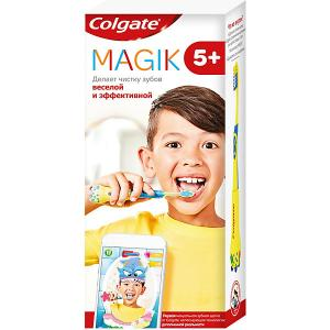 Зубная щетка  Magik супермягкая, с приложением для чистки зубов 5+ Colgate