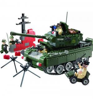 Конструктор  Военный танк (466 дет) Brick