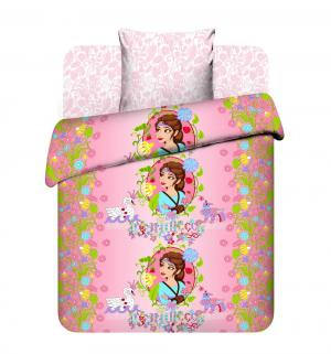 Комплект постельного белья  Василиса, цвет: розовый Василек