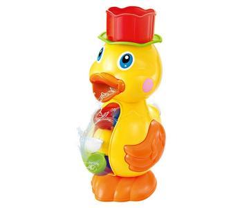 Игрушка для ванной Мельница-горка Утенок с формочкой Junfa