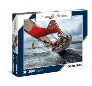 Пазл  Плиссон. Яхта Вельшеда 1000 элементов Clementoni
