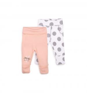 Комплект брюки 2 шт , цвет: розовый/белый Happy Baby