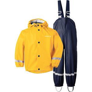 Комплект Didriksons Slaskeman: куртка и полукомбинезон. Цвет: желтый