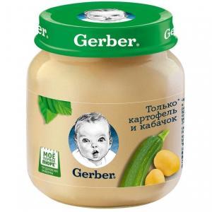 Пюре  картофель-кабачок с 5 месяцев, 130 г Gerber