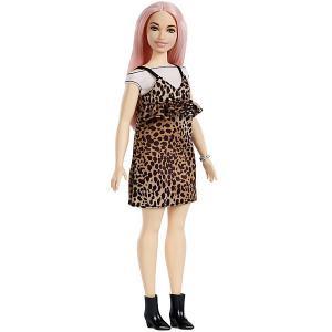 Кукла Barbie Игра с модой в леопардовом сарафане и топе, 29 см Mattel