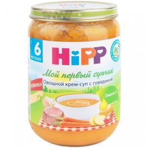 Крем-суп  Овощной Мой первый супчик с говядиной, 190 г Hipp