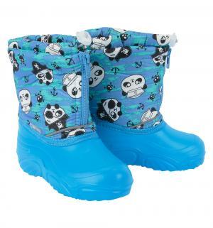 Сноубутсы  Панда-пират, цвет: голубой Дюна