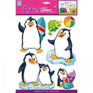 Наклейка Пингвины объемные PSA 6803, Room Decor