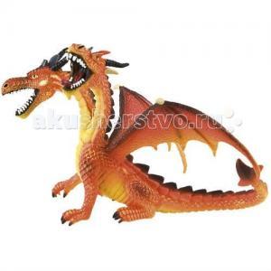 Фигурка двуглавый дракон оранжевый 13 см Bullyland