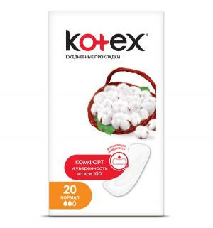 Прокладки  Normal дышащие, 20х16 шт Kotex
