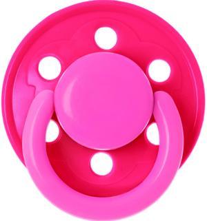 Пустышка  Солнышко с кольцом латекс, 6 мес, цвет: розовый Курносики