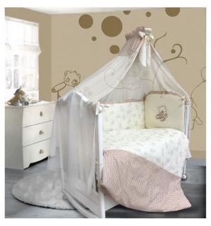 Комплект постельного белья  Очарование 7 предметов, цвет: желтый Bombus