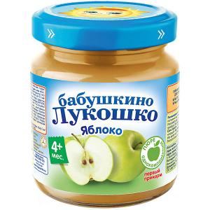 Пюре  яблоко, с 4 мес, 6 шт х 100 г Бабушкино Лукошко